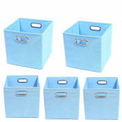 Modern Littles Organisation Bundle-5 Storage Bins, Sky Blue