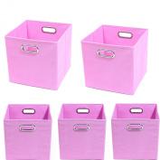 Modern Littles Organisation Bundle-5 Storage Bins, Rose Pink