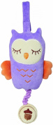My Natural Owl Musical Pull Toy, Purple