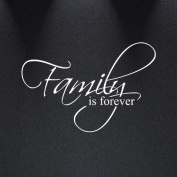 Family Is Forever Vinyl Wall Decal Art Saying Home Decor Sticker #1225 (50cm Wide X 33cm High)
