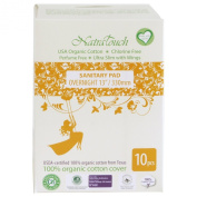 Natratouch Organic Sanitary Pads Ultra Slim with Wings 10 piece