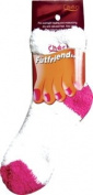 Checi Futfriend Moisturising Socks, Closed Toe, Pink and White