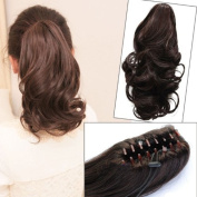NEW Stylish Curly Ponytail Extension Long Claw Clip on Layered Hair Piece pp42