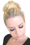 BUN UP DO SIDE BUN BALLERINA TIGHT OR EVEN TOP KNOT IN NATURAL LIGHT BLONDE (BOTTLE) COLOUR