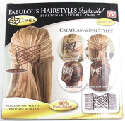 EZ Combs Fabulous Hairstyles Instantly! 4 Piece Set