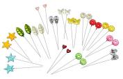 Assorted Decorative Straight Hijab Pins