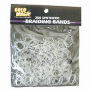 Gold Magic Clear Elastic Braiding Bands - 4 Packs