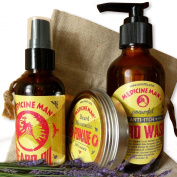Medicine Man's Beard and Moustache Care Gift Set