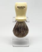 Spitalfields 100% Pure Badger Bristle with Ivory Resin Handle Shaving Brush and FREE Acrylic Stand - Brick Lane - Ivory