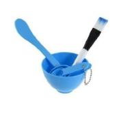 Blue Plastic DIY Homemade Facing Mask Brush Stick Set