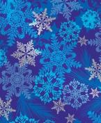Snowflake Swirl Metallic Gift Wrap Roll 60cm X 4.6m