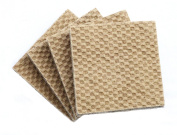 DURA-GRIP® Heavy Duty 5.1cm Square, 1cm Thick Non-Slip Rubber (No glue or nails) Furniture Floor Pads, Protectors-Set of 4