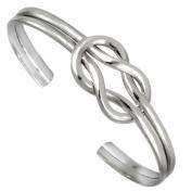 Cape Cod Nautical Sailor's Love Knot Sterling Silver Cuff Bracelet