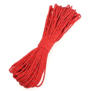 Red Reflective 15m 550ld Parachute Cord Paracord 7 Strand Nylon Camping Desert Survival