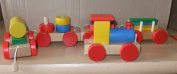 COLOURFUL WOODEN SORTING BLOCK TRAIN
