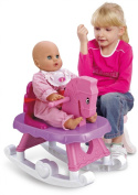 Deluxe Pink Pretend Play Baby Doll Dolly Musical Rocking Horse With Lights