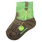 John Deere Infant/Toddler Western Boot Socks 12-24 Months