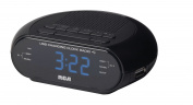 RCA RC207 Dual Wake Clock Radio with USB Charging