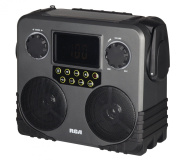 RCA RCAEP700WR RCA 14-In-1 Multi-Function Jobsite AM/FM/NOAA Radio with Solar Charging and Bluetooth, Grey