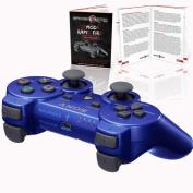 PS3 Playstation 3 Metallic Blue 10 Mode Rapid Fire Modded Controller