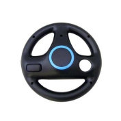 TOOGOO(R) New Black Steering Wheel for Wii Mario Kart Racing Game [Electronics]