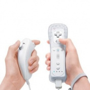DuaFire Nunchuk & Remote Game Controller Bundle for Nintendo Wii