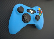 One Piece 1x Brand New High Quality Xbox 360 Remote Controller Silicon Protective Skin Case Cover -Glow Blue Colour