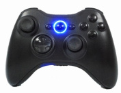 Xbox 360 Modded Controller Rapid Fire / Sniper Quick Scope / Drop Shot / Quick Aim / Zombies Auto Aim / Mimic / Burst / For COD Ghosts Black OPS 2 MW3, Blue Leds, Glossy Black Buttons