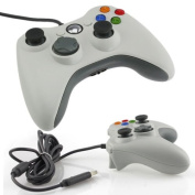 White Wired USB Game Pad Controller For MICROSOFT Xbox 360 PC Windows7 XP
