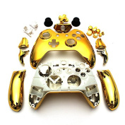 Wireless Controller Replacement Mod Kit Shell Case for Xbox One Chrome Gold