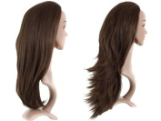 Girly HandBags New Extra Long Reversible Half Head Wig Straight and Flick Style Synthetic 3/4 Piece -- chestnut