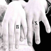 Zokey Original Design Waterproof Temporary Tattoo Stickers Roman Numerals WS281