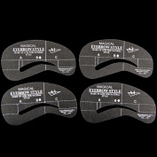 24 Styles Eyebrow Grooming Stencil Kit Template Make Up Shaping DIY Beauty Tools A1-A4