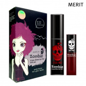 MERIT - Killling Me Zombie Crazy Gloss Lip Tint Set - 01 Bloody Red - 2x Lip colours - Make Up - Lip Care