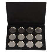 Kobwa(TM) Black Empty Magnetic Cosmetics Makeup Eyeshadow Eye Shadow Aluminium Palette Pans Case With Free Keyring