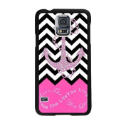Ukamshop(TM)Pink Infinity Chevron Love the Life You Live Pattern Case for for Samsung Galaxy S5 i9600