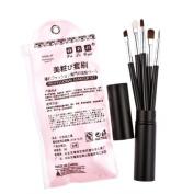 Davidsonne 5 Pcs Cosmetic Makeup Tool Brush Kit Travel Set Black