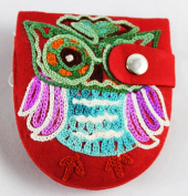 Owl Compact Mirror Red Fair Trade
