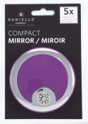 Danielle Creations Hang Sell Crystal Button Compact Mirror, Purple 8.5 cm