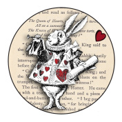 Vintage Alice In Wonderland Inspired Large Pocket Mirror (76mm)