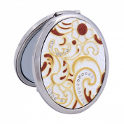 Damara Women's Gold 2-Optical Crystal Compact Mirror