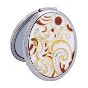 Damara Women's Gold 2-Optical Crystal Compact Mirror