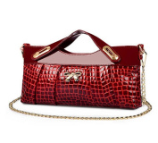 2014 New Ladies Solid Colour PU Leather Clutch Bag Crocodile Grain Messenger Bag Handbag