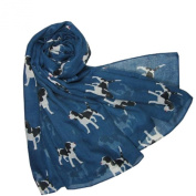 New ladies Puppy Dog Print Scarf Springer Spaniel Beagle Scarf Scarves Shawl