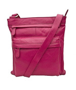 PRIMEHIDE SOFT LEATHER LARGE CROSSBODY HANDBAG BAG 9 FAB COLOURS ! 985