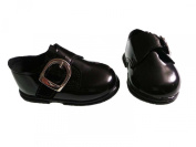 H656 Baby & Toddler Boys First Walking Buckle shoes Patent Black