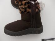 Unisex faux fur warm winter boots in brown or beige