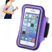 Sports Armbands Case Cover Holder Arm Band for Gym Ridding Bike Cycle Jogging Running Fits iPhone 5 5S 5C 4 4S - Dark Purple