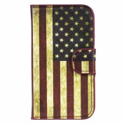 Beiuns Wallet Leather Case for Samsung Galaxy Trend S7560 / Galaxy S Duos S7562 Cover (H117 USA National Flag)
