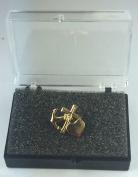 Freemason Faith, Hope & Charity Gold Plated Enamel Lapel Pin Badge In Gift Box